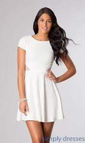 junior white dress dress ty