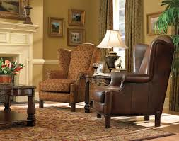 Small Swivel Chair For Living Room Furniture Living Room Design Using Brown Leather Wingback Chair