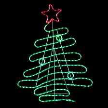 tree design green led rope light decoration