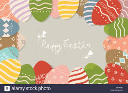 happy easter cards happy easter cards with easter eggs vector illustration stock