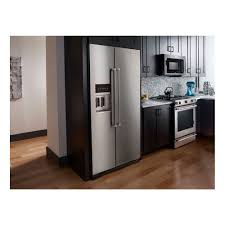 kitchenaid cabinet depth refrigerator krsc503ess kitchenaid 227 cu ft counter depth side side regarding