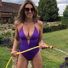 kelly brook bikini pics liz hurley and kelly brook show off their gardening prowess as the