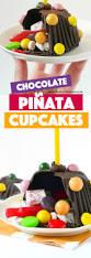 chocolate pinata mini cakes fork and beans