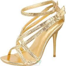wedding shoes gold color celeste hana 07 gold color rhinestone evening shoes