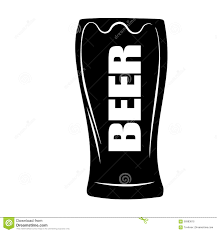 cartoon beer black and white stylized vector illustration of beer glass stock illustration