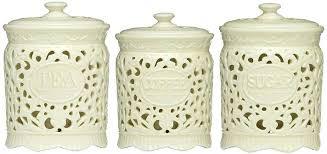 square kitchen canisters white ceramic kitchen canisters and square white wavy kitchen
