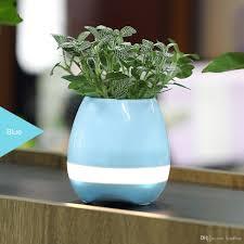 2017 bluetooth smart music flower pots intelligent real plant