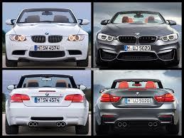 Bmw M3 Convertible - e93 bmw m3 convertible vs 2015 bmw m4 convertible photo comparison