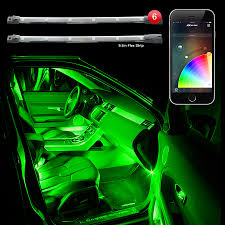Led Lights Flexible Strip by 6pc Car Interior Neon Underglow Accent Light Kit Campatible With