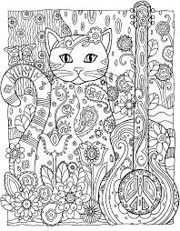 to print this free coloring page coloring cat guitar