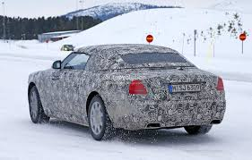 murdered rolls royce wraith 2016 rolls royce wraith drophead coupe spied testing in the cold