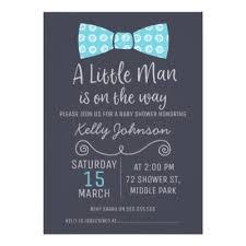 bow tie baby shower invitations baby shower invitation faux glitter card zazzle