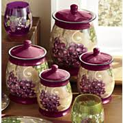 grape kitchen canisters canisters 4 sets kitchen seventh avenue