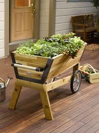 rolling elevated planter box u garden raised planter gardeners com