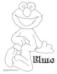 elmo coloring print elmo pictures color