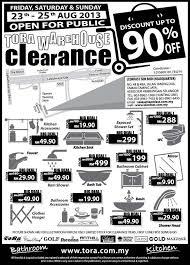 tora bathroom u0026 kitchen warehouse sale clearance everydayonsales com
