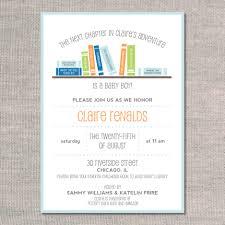 book themed baby shower invitations dancemomsinfo com best