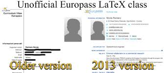 another latex template for the 2013 europass cv rainnic in the