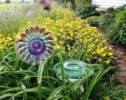 25 best vintage glass yard images on garden totems