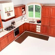 corner cabinet kitchen rug wellness mats puzzlepiece corner comfort mats 3 wide 3pc corner brown 6 5 x 6 ls3wmp656brn