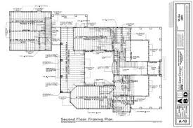 Second Floor Plans Floor Framing Plans 6 Of 11 Sater Design Collection