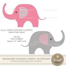 pink and grey elephant baby shower clipart baby elephant clipart pink and grey elephant clipart