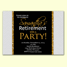 retirement farewell party invitation wording with white and gold
