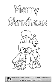 merry christmas bears coloring sheet toby u0027s bear christmas