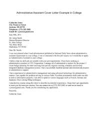 cover letter cover letter for administration cover letter for