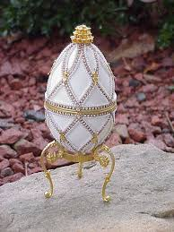 decorated goose eggs decorated real goose egg jewelry keepsake trinket gift box