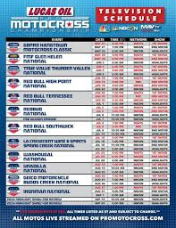 lucas oil pro motocross schedule lucas oil pro motocross nbc sports mavtv to televise 60 hours of