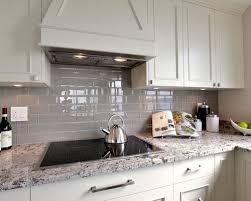 gray backsplash kitchen grey glass tile houzz
