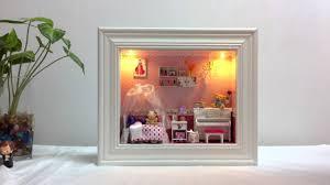 diy dollhouse miniature in a 3d frame box dream of the princess