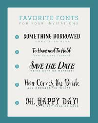 Wedding Invitation Card Fonts Fonts For Diy Wedding Invitations The Budget Savvy Bride