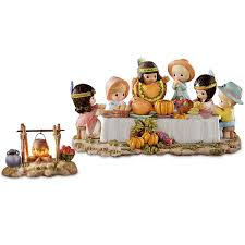 figurine precious moments we gather together thanksgiving