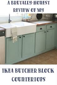 a brutally honest review of ikea butcher block countertops our ikea butcher block countertop review
