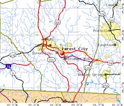 forest city carolina nc 28160 profile population maps