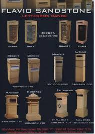 sandstone letterboxes