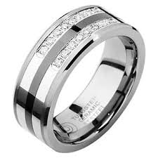 mens wedding band with diamonds diamond men s wedding bands groom wedding rings for less