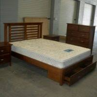 King Size Bed With Storage Underneath Bedroom Rectangle Brown Wooden Bed Frame With Storage Underneath
