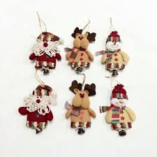 6pcs good quality christmas ornaments with small bell 17 17
