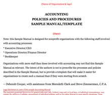 Procedures Manual Template accounting procedures manual template blue avocado