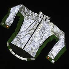 cycling jacket with lights new hi vis torch jacket for cyclists who demand to be seen