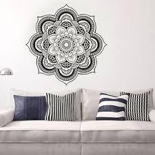 stickers muraux chambre muraux sticker mural mandala fleur amovible décor autocollant mur