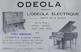 ad un piano publicite odeola piano a queue et droit erard gaveau klein de 1928