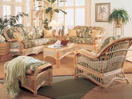 Living Room Wicker Furniture Seascape Rattan Banana Leaf Wicker Kozy Kingdom