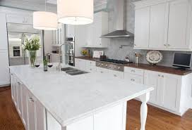 Kitchen  Modern L Shape White Kitchen Cabinets Feat Wooden Brown - Contemporary white kitchen cabinets