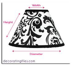 how to size a lampshade u0026 other tips for table lamps
