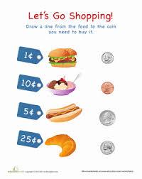 let u0027s go shopping food worksheet education com
