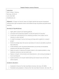 Best Resume Format For Lecturer Post by Resume Of A Lecturer Resume For Your Job Application